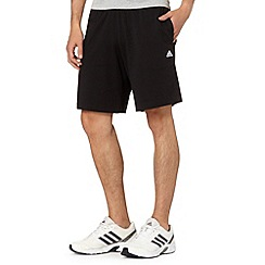 adidas - Black jersey drawstring shorts