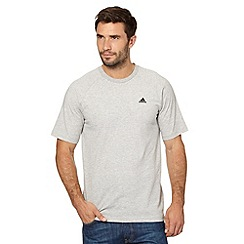 adidas - Grey plain crew neck logo t-shirt
