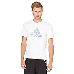 adidas - White logo sports t-shirt