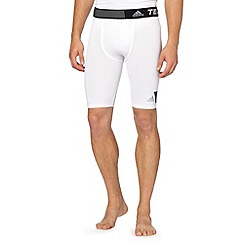 adidas - White tech fit shorts