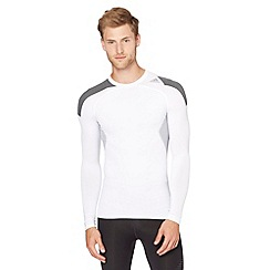 adidas - White 'TechFit' long sleeved gym top