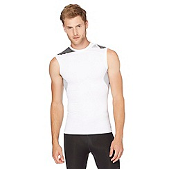 adidas - White 'TechFit' gym tank top