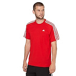 adidas - Red crew neck logo t-shirt