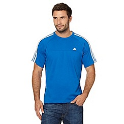 adidas - Blue crew neck logo t-shirt