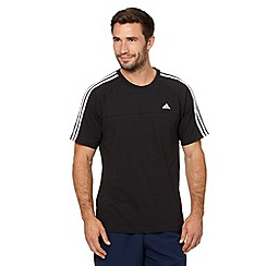 adidas - Black crew neck logo t-shirt