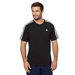 adidas - Black crew neck logo t-shirt