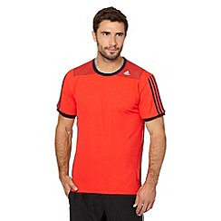 adidas - Orange mesh 'Clima' t-shirt