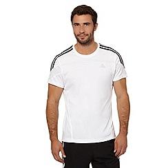 adidas - White 'Response' running t-shirt