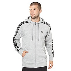 adidas - Grey zip through hoodie