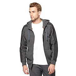 adidas - Dark grey zip through hoodie