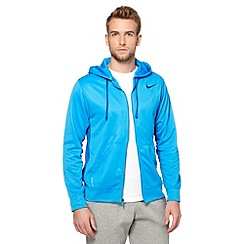 Nike - Blue 'ThermaFIT' zip through hoodie