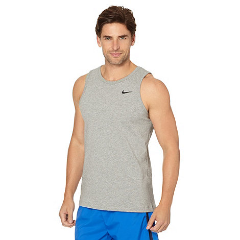 Nike - Grey embroidered logo tank top