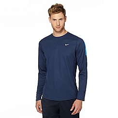 Nike - Navy perforated long sleeved top