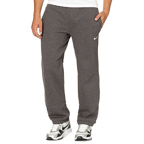 Nike - Dark grey +Club+ cuffed jogging bottoms