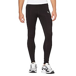 Puma - Black long tight running trousers