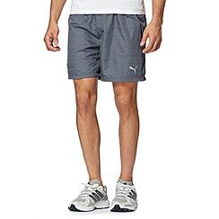 Puma - Grey 'Pure Nightcat' running shorts