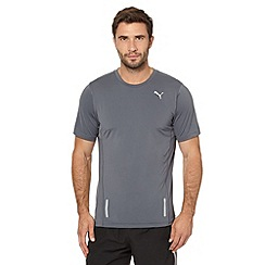 Puma - Grey fitted mesh running t-shirt