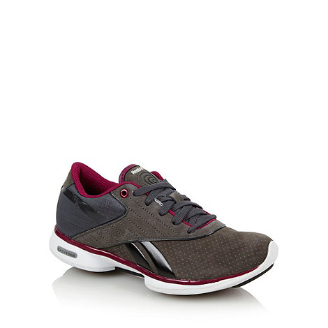 Reebok - Grey panelled +Easytone+ trainers
