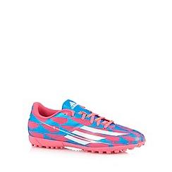 adidas - Pink 'F5' astro turf football boots