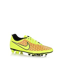 Nike - Green 'Magista' firm ground football boots