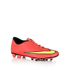Nike - Light pink 'Mercurial Vortex' firm ground football boots