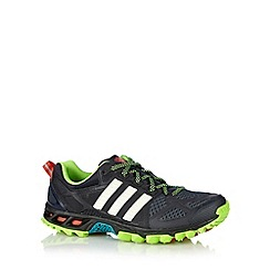 adidas - Black 'Kanadia Trail' neon trainers