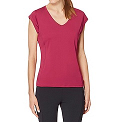 XPG by Jenni Falconer - Dark pink V neck running t-shirt