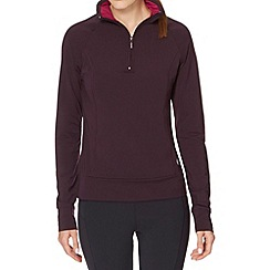 XPG by Jenni Falconer - Plum zip neck running top