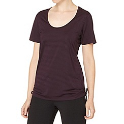XPG by Jenni Falconer - Plum loose fit striped t-shirt