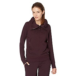XPG by Jenni Falconer - Plum zip through sweat jacket