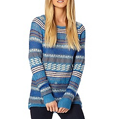 Weird Fish - Blue mixed striped knit tunic