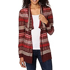 Weird Fish - Wine striped waterfall cardigan