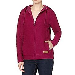 Weird Fish - Dark pink zip fastening macaroni hoodie