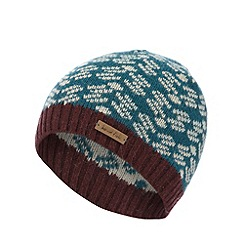 Weird Fish - Dark green patterned knit beanie