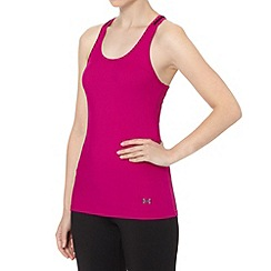 Under Armour - Dark pink 'Victory' ribbed tank top