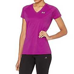 Under Armour - Pink technical gym t-shirt