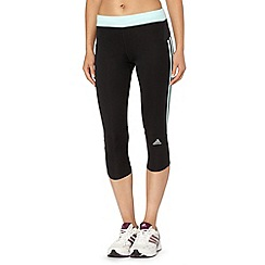 adidas - Black 'ClimaLite' capri pants