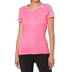 adidas - Bright pink 'Response' t-shirt