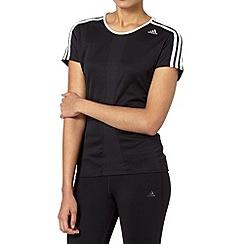 adidas - Black 'Response' running t-shirt