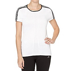 adidas - White perforated short sleeve t-shirt