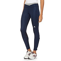 adidas - Navy 'Supernova' long tight running leggings