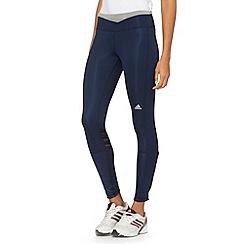 adidas - Navy 'Supernova' long tight running leggings