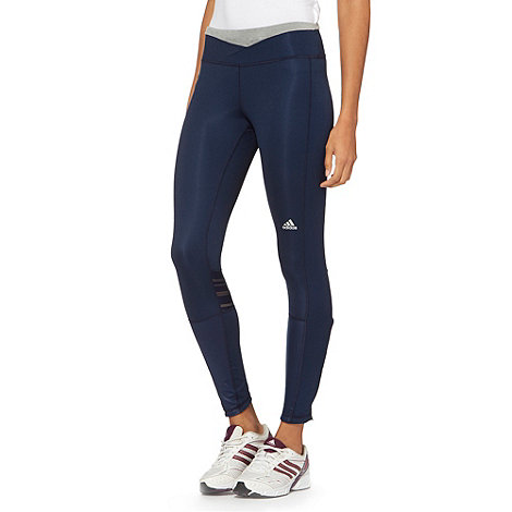 adidas - Navy +Supernova+ long tight running leggings