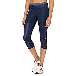 adidas - Navy mesh stripe capri pants
