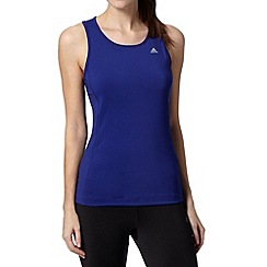 adidas - Purple 'Climalite' slim fit tank top