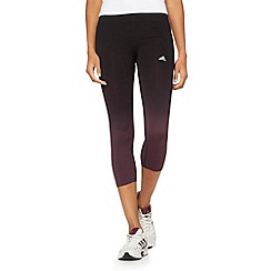 adidas - Black 'AdiPure' tight cropped gym leggings