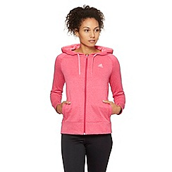adidas - Pink 'Ultimate' zip through hoodie