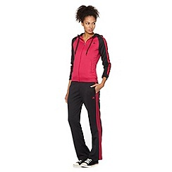 adidas - Pink logo striped jacket and trousers knitted set