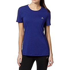 adidas - Purple plain crew neck t-shirt