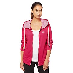 adidas - Pink 'Prime' zip through hoodie